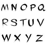 Abc. Alphabet  written with a paint brush Stock Image
