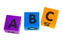 ABC. Letters A B C isolated on the white background royalty free stock photos