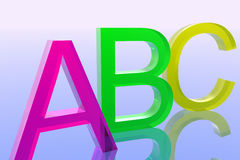 Abc. Illustration of alphabet Royalty Free Stock Images