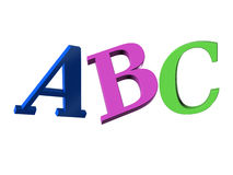 Abc 3d letters on the air Stock Photography