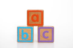 ABC. Alphabet blocks on white royalty free stock images