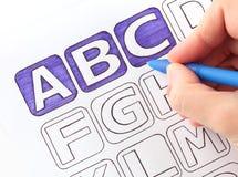 我画ABC 免版税图库摄影