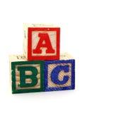 ABC Imágenes de archivo libres de regalías