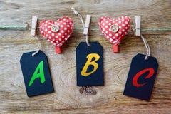 ABC fotografia stock