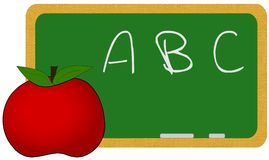 ABC. Illustration of a school blackboard with ABC written in chalk Royalty Free Stock Images