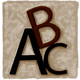 ABC. The letters ABC in relief, digital painting royalty free illustration