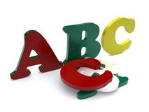 Abc. Letters isolated on white background royalty free illustration