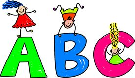 ABC illustration stock