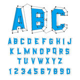 abc abecadło pisze list machinalnego ustalonego rozkład zajęć 3d ilustracja wektor Projekt Zdjęcie Stock