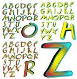 ABC-Alfabet het van letters voorzien combo van de ontwerpaberratie Royalty-vrije Stock Fotografie