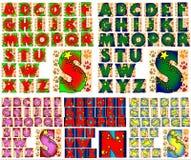 ABC-Alfabet het van letters voorzien ontwerp Stock Foto's