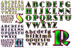 ABC-Alfabet het van letters voorzien ontwerp Royalty-vrije Stock Afbeeldingen