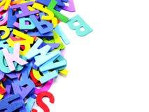 Abc-alfabetbakgrund Arkivfoto