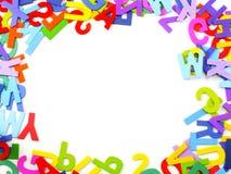 Abc-alfabetbakgrund Arkivbilder