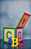 abc-alfabetblock Royaltyfri Bild