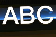 abc-alfabetbokstäver Arkivbild