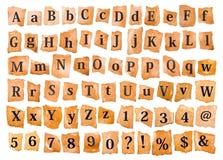 abc-alfabetet letters det mekaniska setschemat Fotografering för Bildbyråer