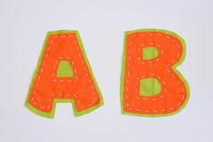abc-alfabetet letters det mekaniska setschemat Royaltyfri Bild
