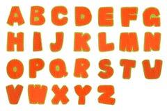abc-alfabetet letters det mekaniska setschemat Arkivfoto