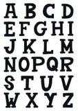 ABC - Alfabeto latino Manifesto unico della scuola materna con le lettere nello stile scandinavo royalty illustrazione gratis