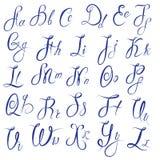 ABC - Alphabet anglais - calligraphique manuscrit Image libre de droits