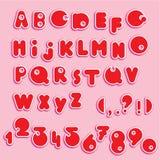 ABC - alphabet anglais et chiffres Photos libres de droits