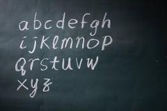 Abc. Alphabet abc on the blackboard royalty free stock photography