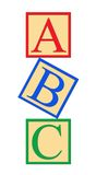 ABC Alphabet Blocks Stock Photography