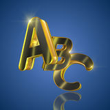 ABC. Letters on blue Stock Photo