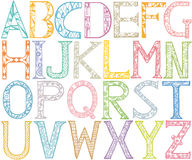 ABC Alphabet design. Stock Photo