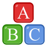 ABC Alphabet Flat Icon Isolated on White royalty free illustration
