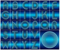 ABC Alphabet lettering design Stock Photography
