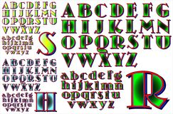 ABC Alphabet lettering design Royalty Free Stock Images