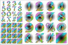 ABC Alphabet lettering design Stock Photos