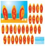 ABC - alphabet - panneaux de vague déferlante avec le lette tiré par la main Photos stock