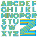 ABC Alphabet special design set Royalty Free Stock Images