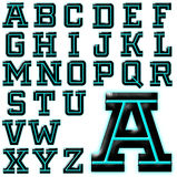 ABC Alphabet special design set Royalty Free Stock Photo