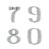 ABC alphabet symbols made of coins. ABC alphabet symbols made of silver coins isolated on white Stock Photography