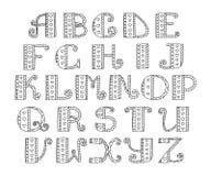 ABC Alphabet tiré par la main de vecteur Griffonnage marquant avec des lettres la collection Bl illustration de vecteur