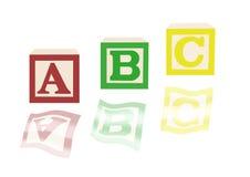 ABC-Alphabetblöcke und -bilder Lizenzfreie Stockbilder