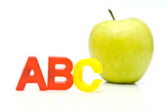 Abc And Apple Stock Photos