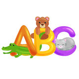 Abc animal letters for school or kindergarten children alphabet education  Stock Images