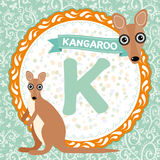 ABC animals K is kangaroo. Childrens english alphabet. Vector. ABC animals K is kangaroo. Childrens english alphabet Stock Image