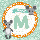 ABC animals M is mouse. Childrens english alphabet. Vector. Illustration Royalty Free Stock Photography