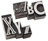 Abc anx xyz - first tand last alphabet letters Stock Image