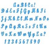 ABC błękit ilustracji