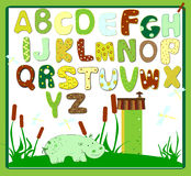 Abc baby hippo vector. Art Royalty Free Stock Photography