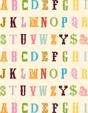 Abc background. Colorful background of alphabet with different fonts Stock Photo