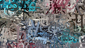 ABC Background. Abstract background with alphabet letters and numbers stock illustration