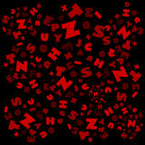 Abc background. This illustration is red-black background Royalty Free Stock Photo